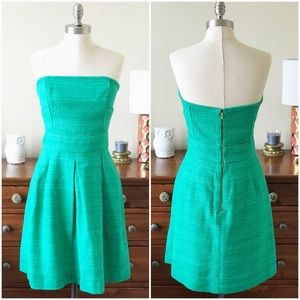 Banana Republic Green Strapless Dress